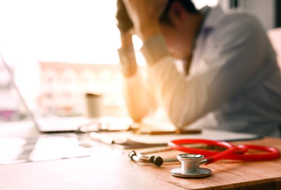 3 Common Pain Points in Healthcare Practices 12 Exhausted Doctor