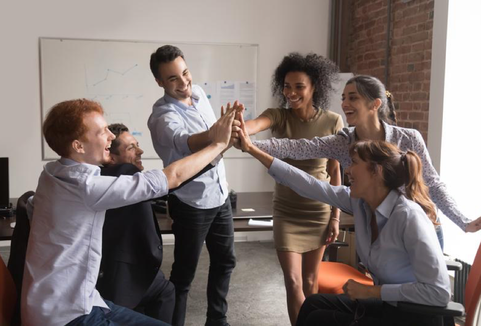 3 Easy Ways to Boost Employee Engagement 16 Group High Five