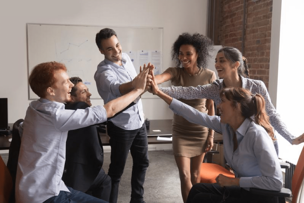 3 Easy Ways to Boost Employee Engagement 4 Group High Five