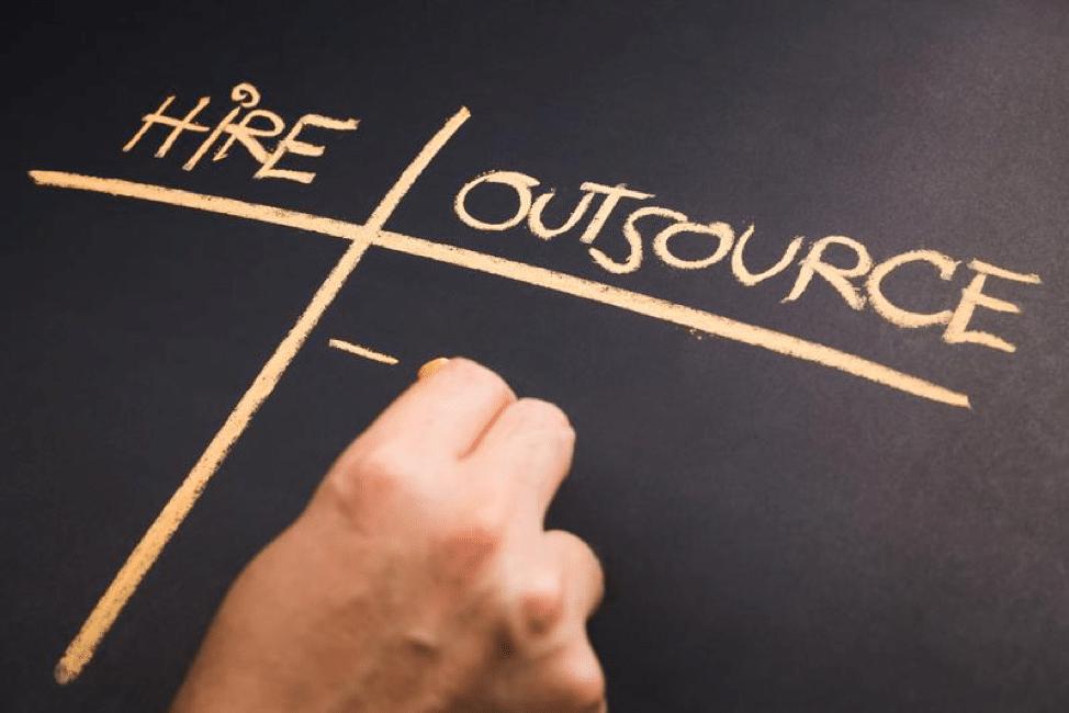 Hire vs Outsource Graphic